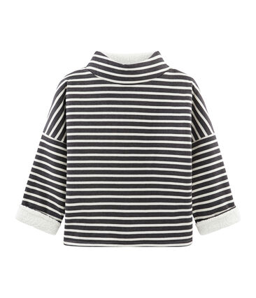 Women's Reversible Sailor Top City black / Coquille beige