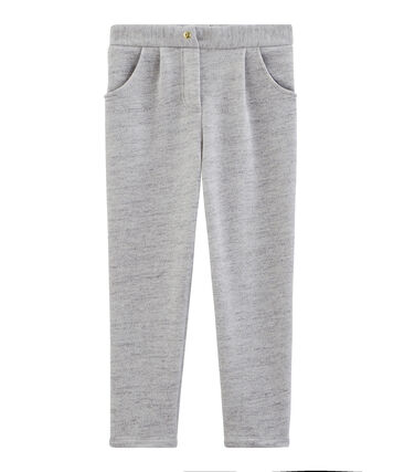 Girls' sweatshirt trousers Vicky Bleu Chine grey