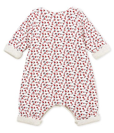 Baby boys' long printed jumpsuit