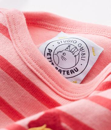 Baby marinière bodysuit Gretel pink / Impatience pink