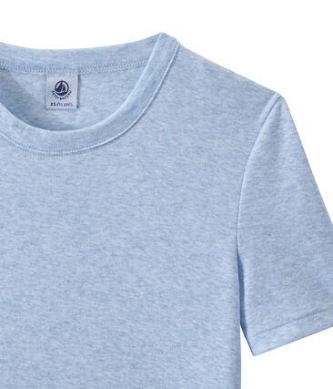 Women's T-shirt in heritage rib Cumulus Chine blue