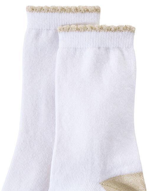 Girl's plain socks Marshmallow white