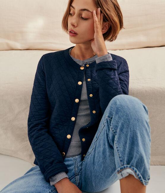 Women's tube knit cardigan SMOKING