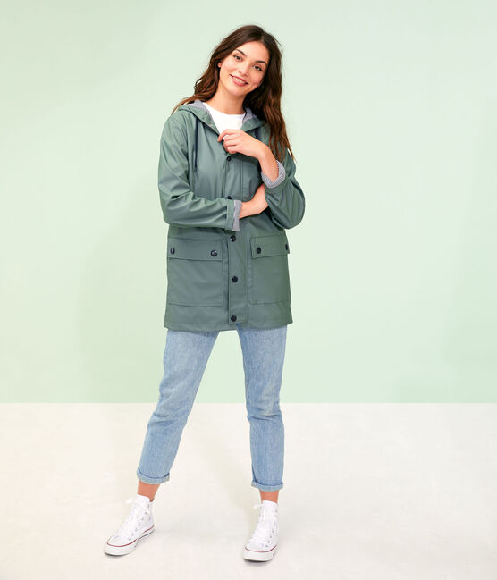 Unisex Iconic Waxed Coat Thuya green