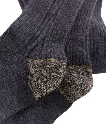 Thermal tights for girls City Chine grey