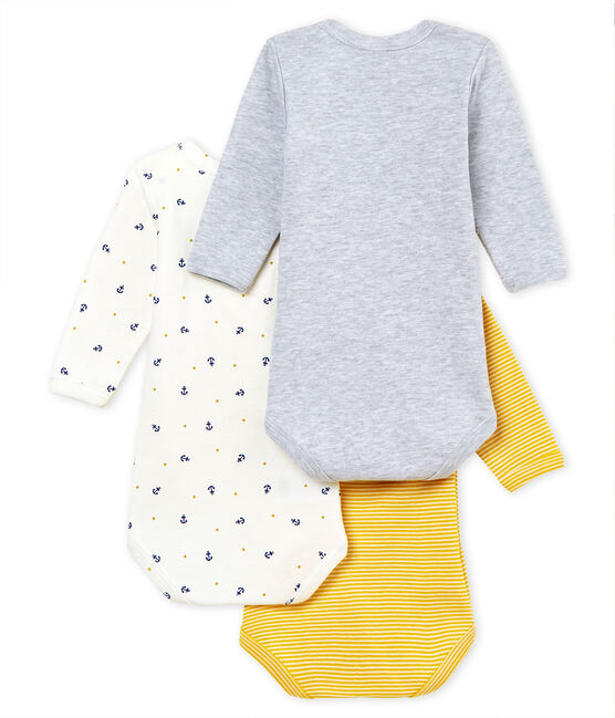 Baby Boys' Long-Sleeved Bodysuit - Set of 3 . set