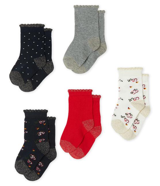 Baby Girls' Socks - 5-Piece Set . set