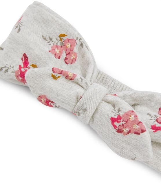 Baby Girls' Headband Beluga grey / Multico white