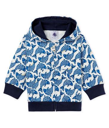 Baby boys' hooded zip up Sweatshirt in printed jersey