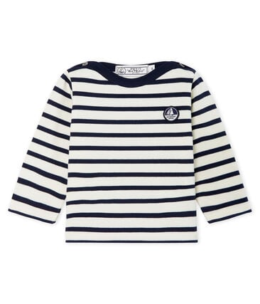 Unisex Baby's Iconic Sailor Top Coquille beige / Smoking blue