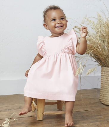 Baby Girls' Satin Dress and Bloomers Minois pink