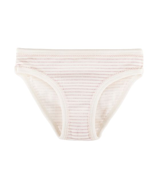 Girls' Knickers Marshmallow white / Babylone pink
