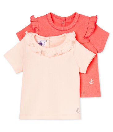 Baby girls' t-shirt - set of 2