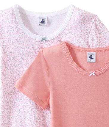 Set of 2 girls' short-sleeved t-shirts