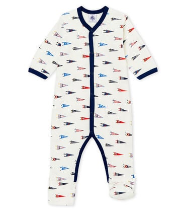 Baby boy's reversible footed sleepsuit