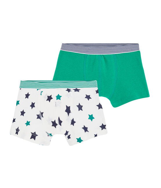 Boys' Cotton/Linen Boxer Shorts - 2-Piece Set . set