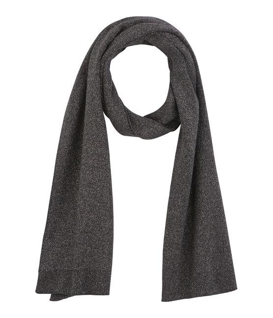 Women's Shiny Scarf City black / Argent grey