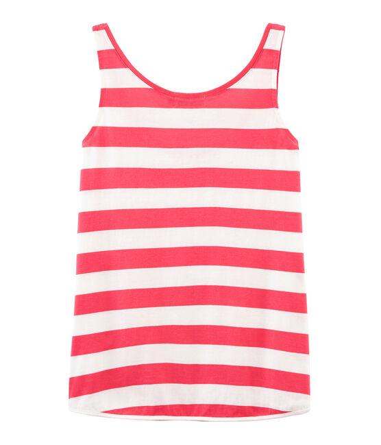 Women's sleeveless top Petal pink / Crystal blue
