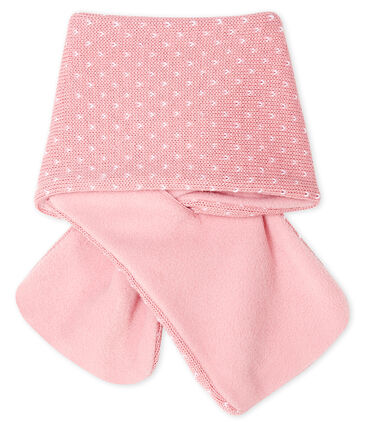 Unisex Baby Fleece-Lined Scarf Charme pink / Marshmallow white