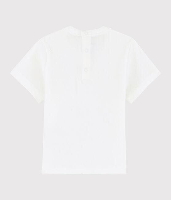 Baby girl's t-shirt Ecume white
