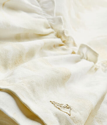 Baby girl's print satin dress