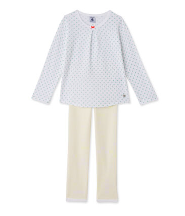 Girls' print and striped pyjamas