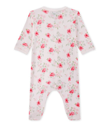 Baby girl's floral print sleepsuit Vienne pink / Multico white