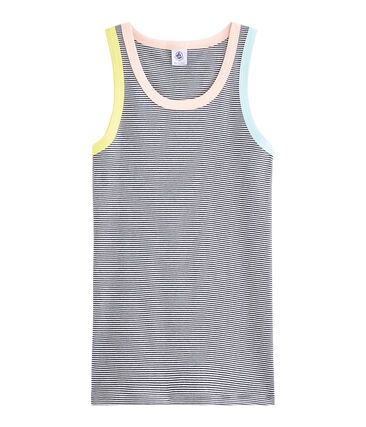 Women's Iconic Vest Smoking blue / Marshmallow white