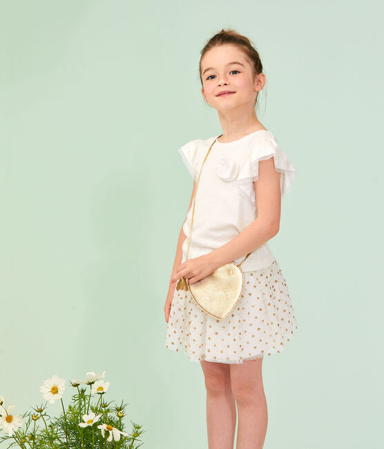 Girls' Skirt Marshmallow white / Or yellow