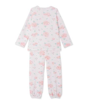Girls' floral print velour pyjamas