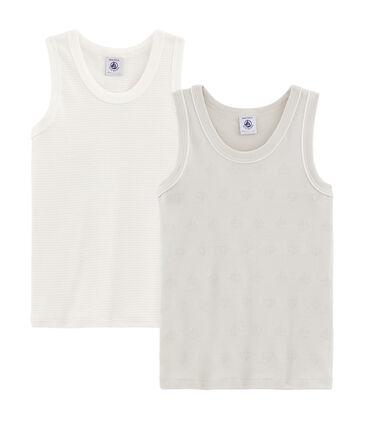 Boys' sleeveless vests - Set of 2 . set