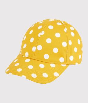 Girls' Spotted Print Cap Shine yellow / Marshmallow white
