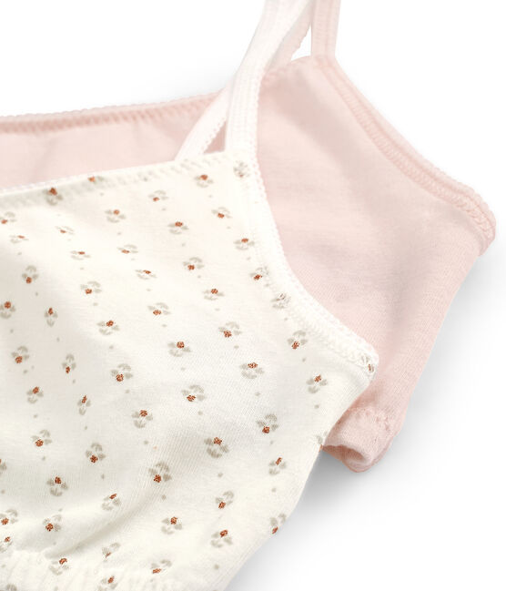 Girls' Stretch Cotton crop tops - Set of 2 . set