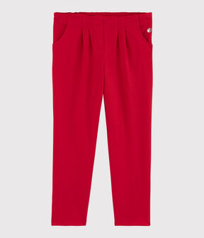 Girls' Jersey Trousers Terkuit red