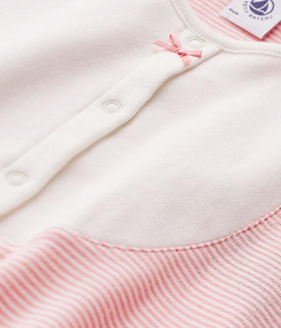 Chemise de nuit fille en milleraies Gretel pink / Lait white