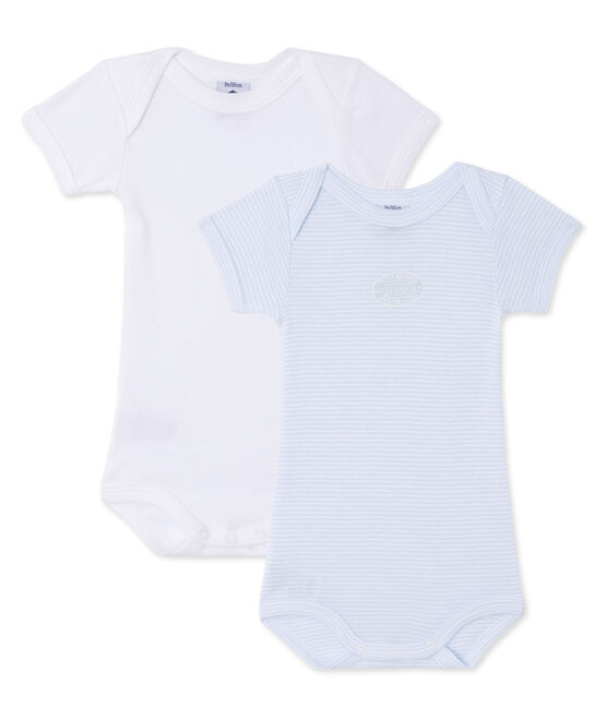 Pack of 2 baby boy bodysuits . set