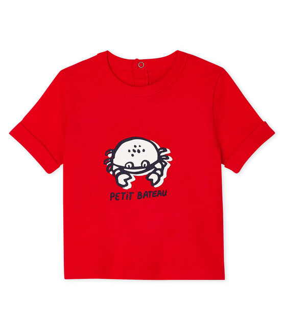 Short-sleeved T-shirt for baby boys Peps red