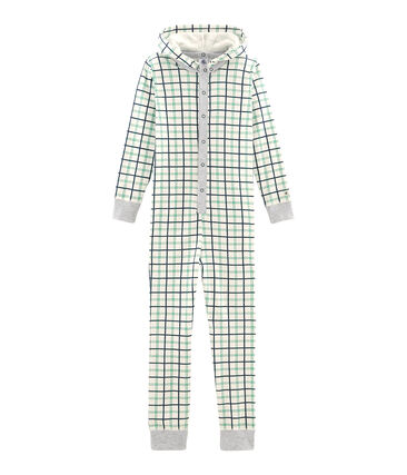 Baby Boys' Long Jumpsuit Marshmallow white / Multico white