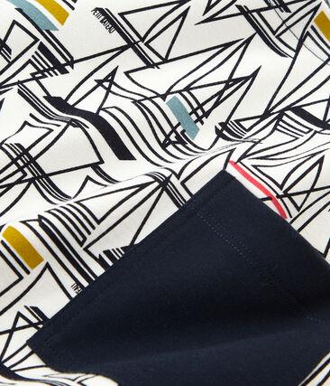Women's short-sleeved stripy breton top