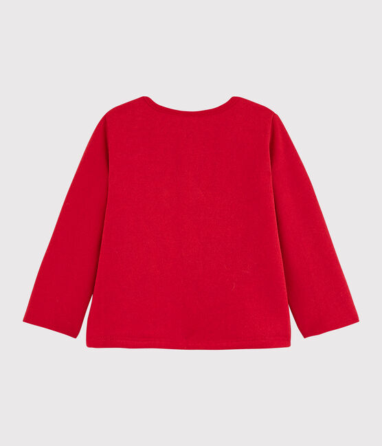 Baby girl's fleecy cardigan Terkuit red