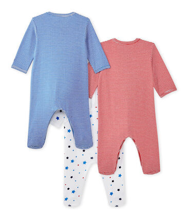 Set of three baby boy's sleepsuits