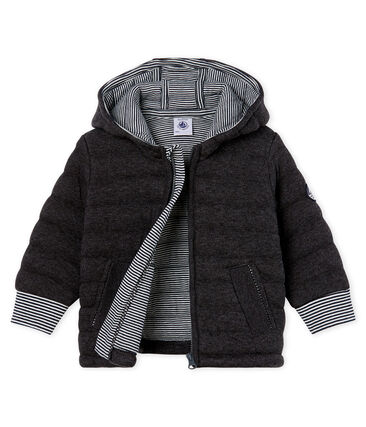 Baby Boys' Zip-Up Jacket in Quilted Tube Knit City black