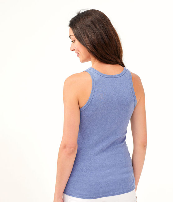 Women's Iconic Vest Captain Chine blue