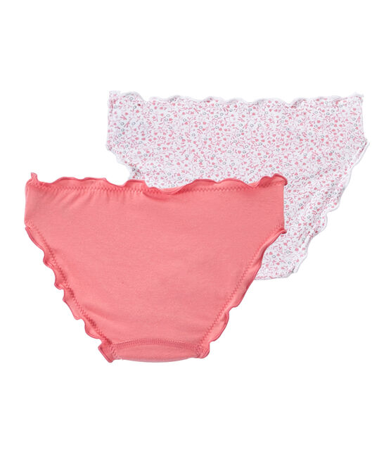 Set of 2 girls' panties with frills . set