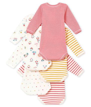 Set of 5 baby girl's long sleeved bodies