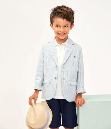 Boys' Jacket Fontaine blue / Marshmallow white