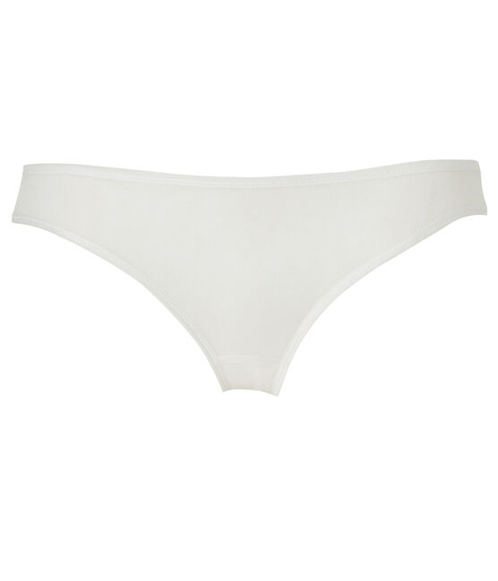 Women's light cotton briefs Lait white