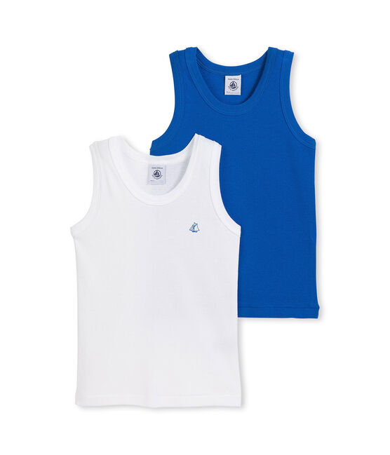Set of 2 boy's plain vest tops . set