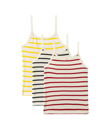 Set of 3 strap vest tops girl . set