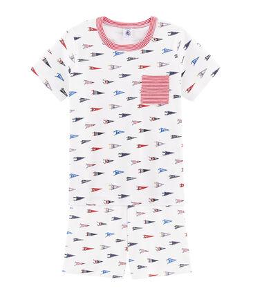 Boys' cropped ribbed pyjamas